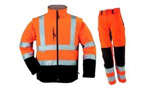 Tenue de protection de couleur orange